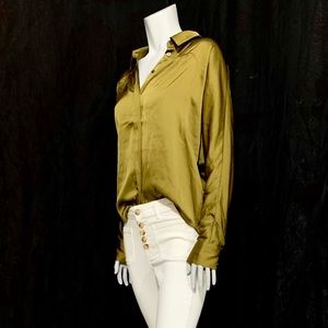 Anthropologie Olive Top Blouse - Tie front